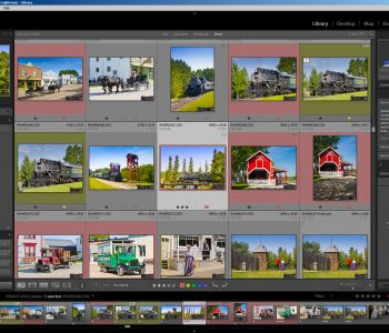 Screenshot des Bibliotheks-Moduls von Adobe Lightroom