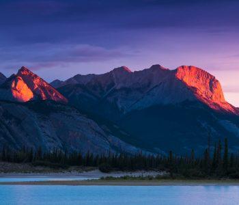 De Smet Range bei Sonnenaufgang