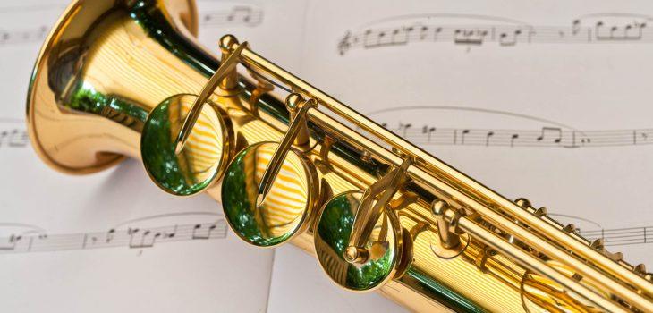 Nahaufnahme eines Saxofons